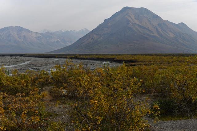Views of Mountains and a Glacial Plain at the Toklat River Contact Station (Denali National Park & Preserve)