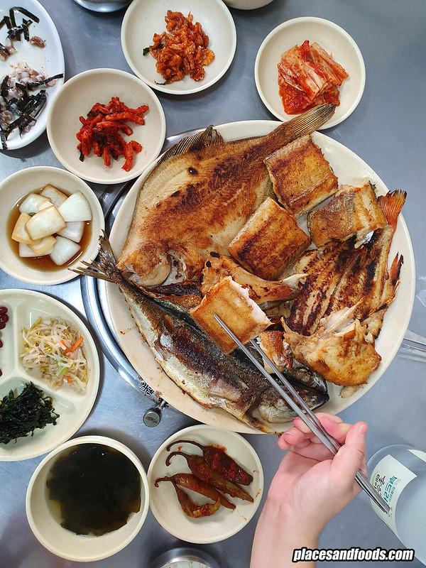busan Jalgachi Market grilled fish