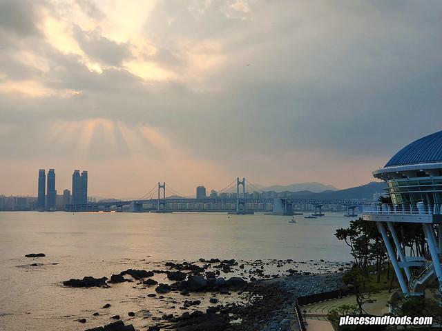 busan Dongbaek Park sunset view