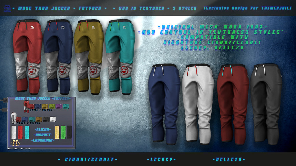 """►""""TD"""" More than jogger  FATPACK Exclusive design for THEMENJAILEVENT"""