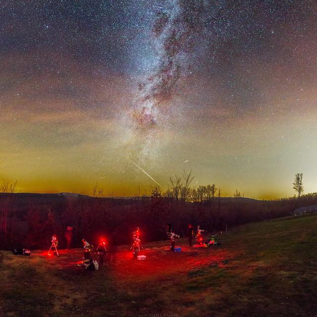 Schmall Rafael - Lassan zuhanó tűzgömb a horizonton, ami vizuálisan olyan -4...-5 magnitúdósnak látszódott - VCSE