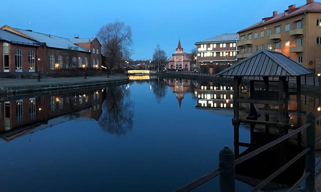 January Morning in Town Falun
