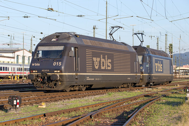 BLS Re 465 015 + 465 010 Basel Bad