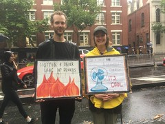 Hotter and Drier Wake up deniers - Climate Emergency Bushfires rally Melbourne 10 Jan 2019 - IMG_4874