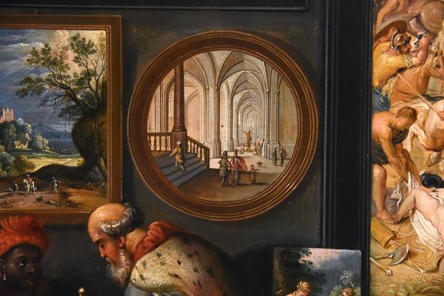 Den Haag, Zuid-Holland, Mauritshuis, Apelles paints Campaspe, c. 1630 {Haecht}, detail
