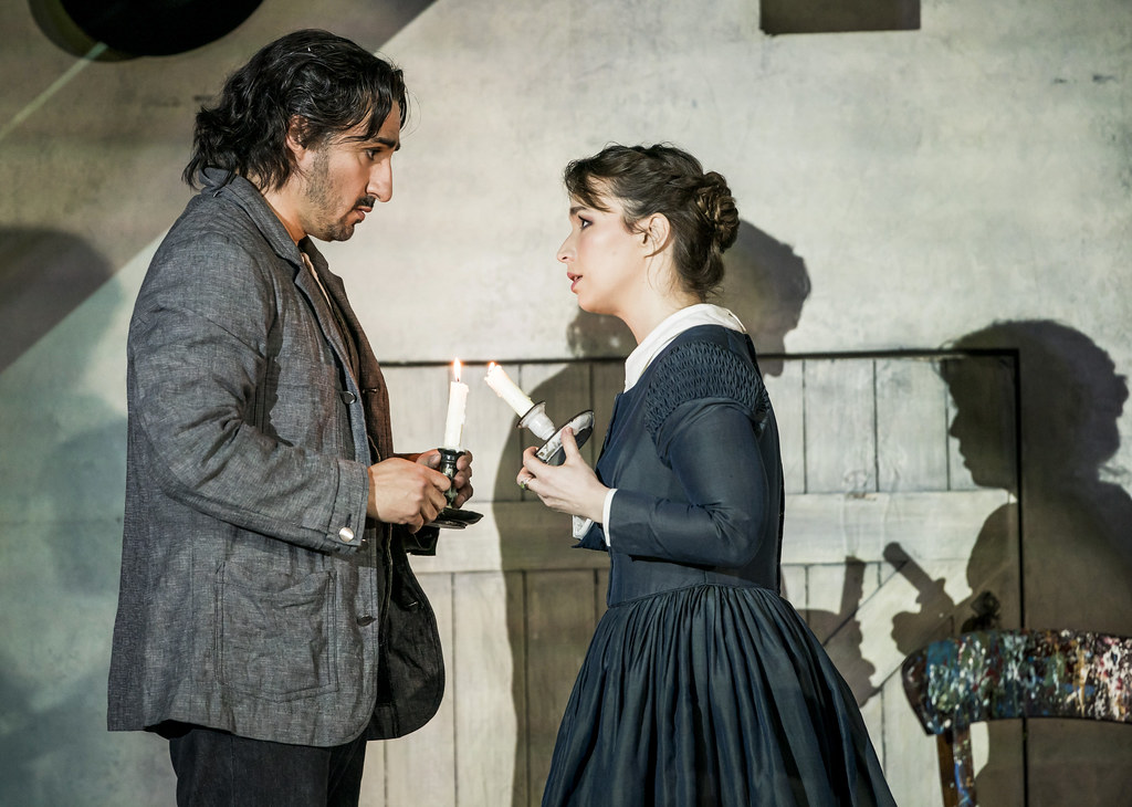 Charles Castronovo as Rodolfo and Simona Mihai as Mimì in La bohème, The Royal Opera ©2020 ROH. Photograph by Tristram Kenton