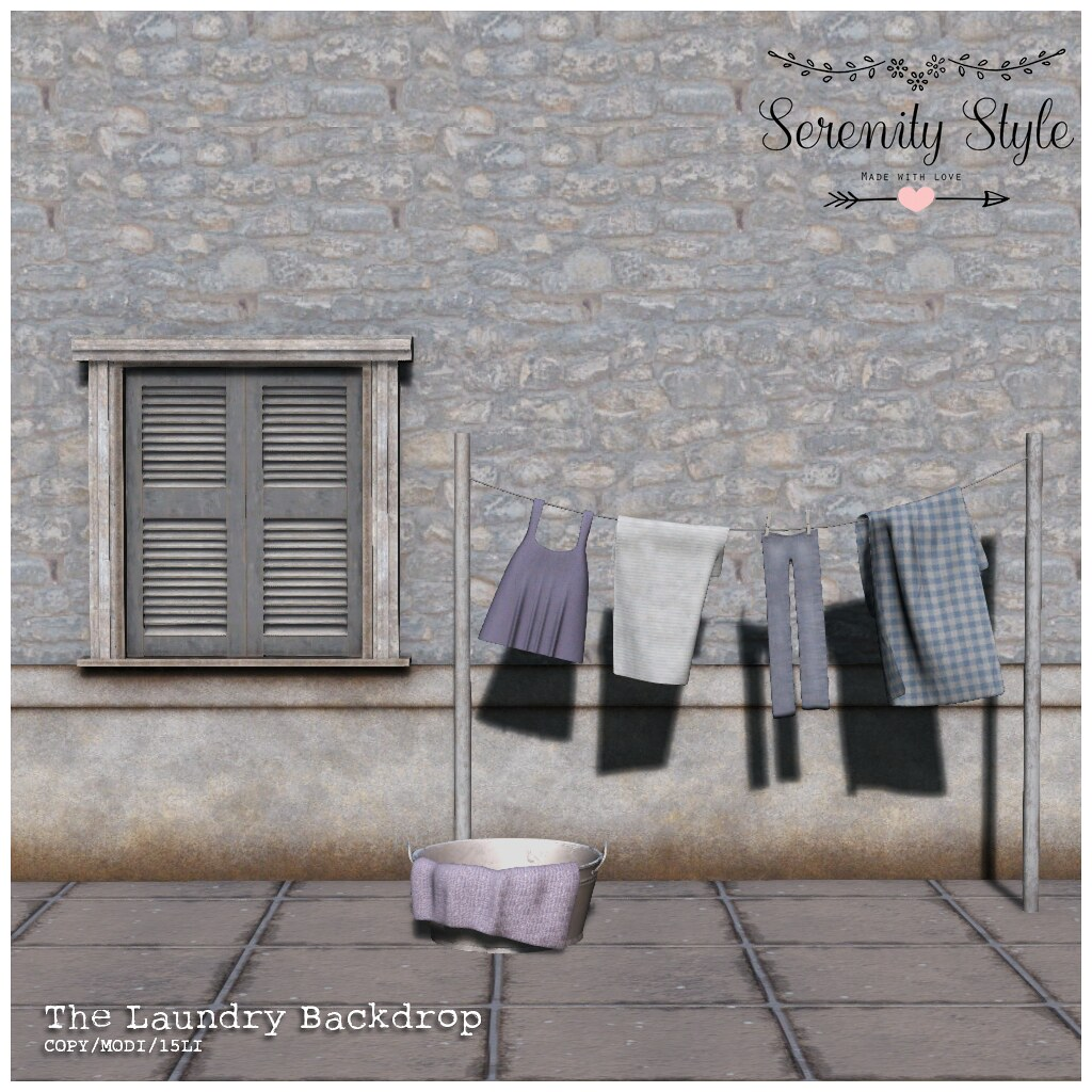 Serenity Style-The Laundry backdrop
