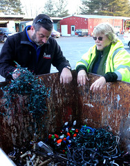 State Rep. Jay Case, left, toured Regional Refuse District #1 with Administrator Debbie Angell.