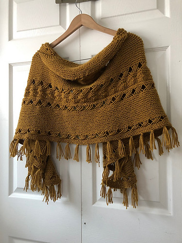Lise finished this Hipster Shawl by Joji while away for her daughter...how to block while away?