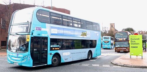 YN65 XFJ 'Nottingham City Transport' No. 650 '78/79 turquoise line'. Scania N230UD / Alexander Dennis Ltd. Enviro 400  on Dennis Basford's railsroadsrunways.blogspot.co.uk'