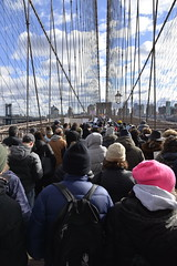 2020-01-05 NY Anti-Semitism March 50 - Marching Over the Brooklyn Bridge