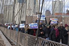 2020-01-05 NY Anti-Semitism March 48 - Marching Over the Brooklyn Bridge