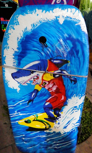 Shark surfboard in in Puerto Escondido, Mexico