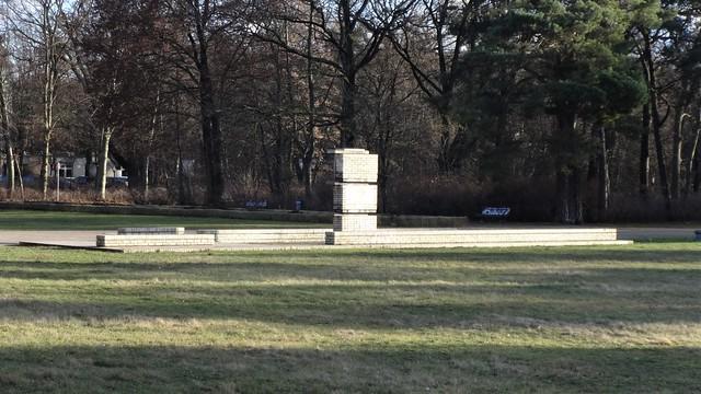 2002/03 Berlin Springbrunnen im Volkspark Köpenick von Hans Loidl gelber Klinker Salvador-Allende-Straße in 12555