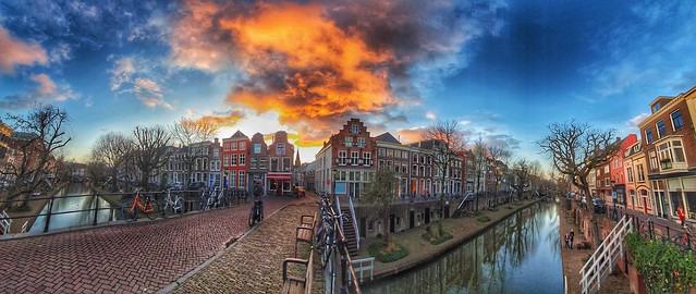 Beautiful sky in Utrecht