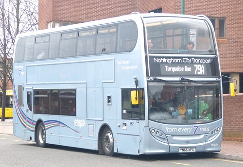 YN65 XFX 'Nottingham City Transport' No. 662. Scania N230UD / Alexander Dennis Ltd. Enviro 400 on Dennis Basford's railsroadsrunways.blogspot.co.uk'