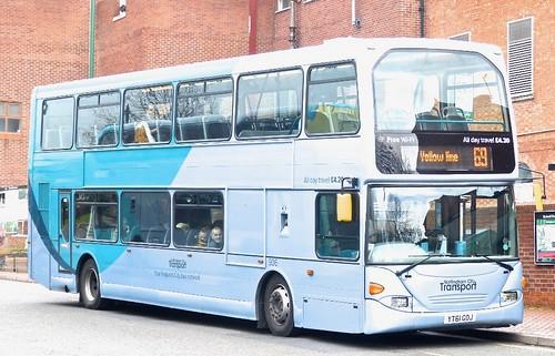 YT61 GOJ 'Nottingham City Transport' No. 906.  Scania N230UD / Optare on Dennis Basford's railsroadsrunways.blogspot.co.uk'