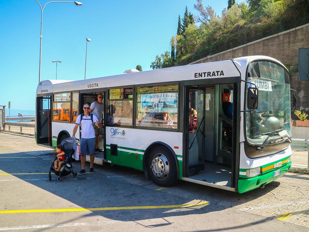 Bus gratuito del parking en Taormina