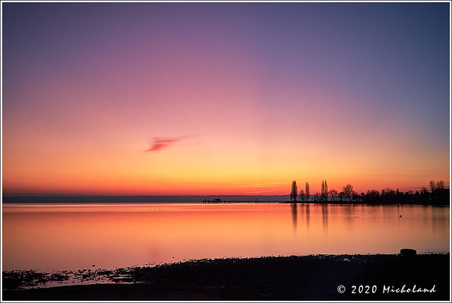 Colourful sunset @Lake Constance