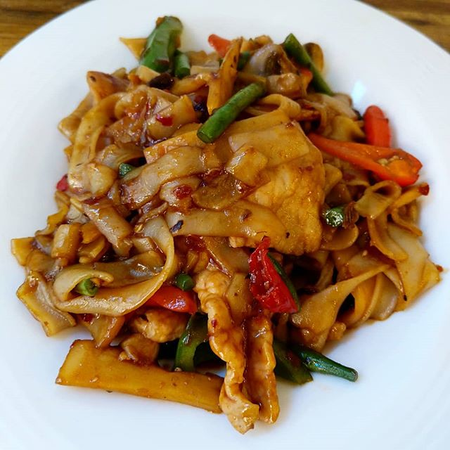 I felt like spicy noodles and so pad kee mao it was! 🌶️🌶️🌶️