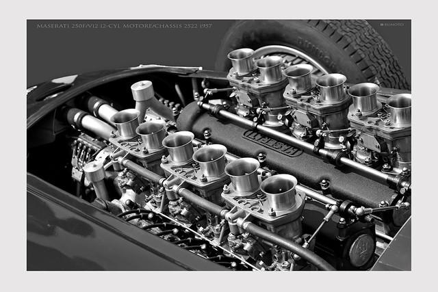 Maserati 250F V12 12-Cyl Motore Chassis # 2522 1957 (c) 2020 Bernard Egger :: rumoto images 3468 mono