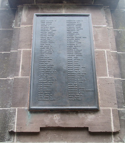 Great War Names Brechin War Memorial