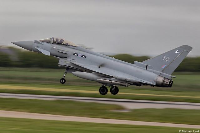 RAF Eurofighter Typhoon FGR4, ZK319/Y; II (AC) Squadron, RAF Lossiemouth, Moray, Scotland