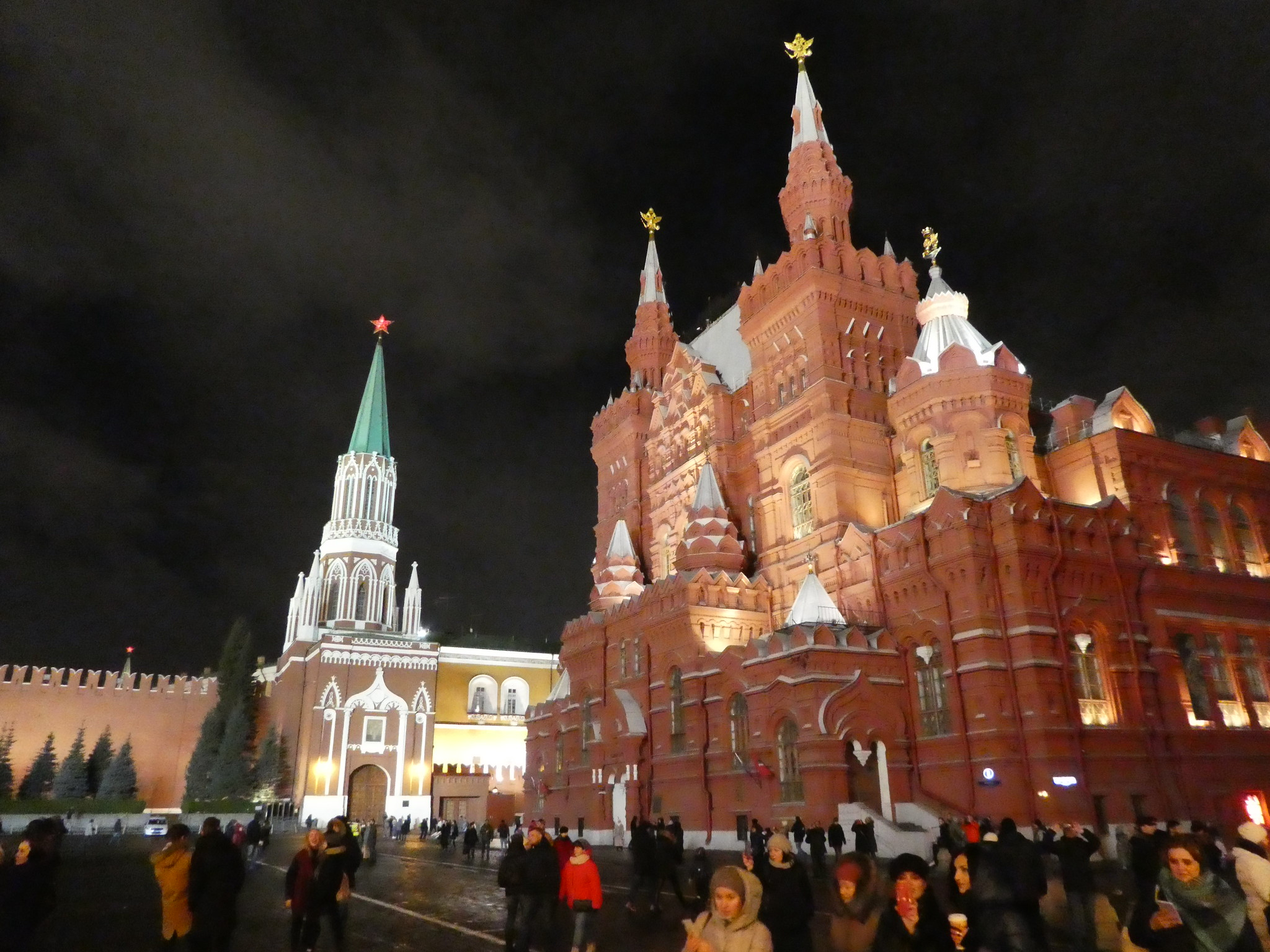 Red Square, Moscow lit up at night
