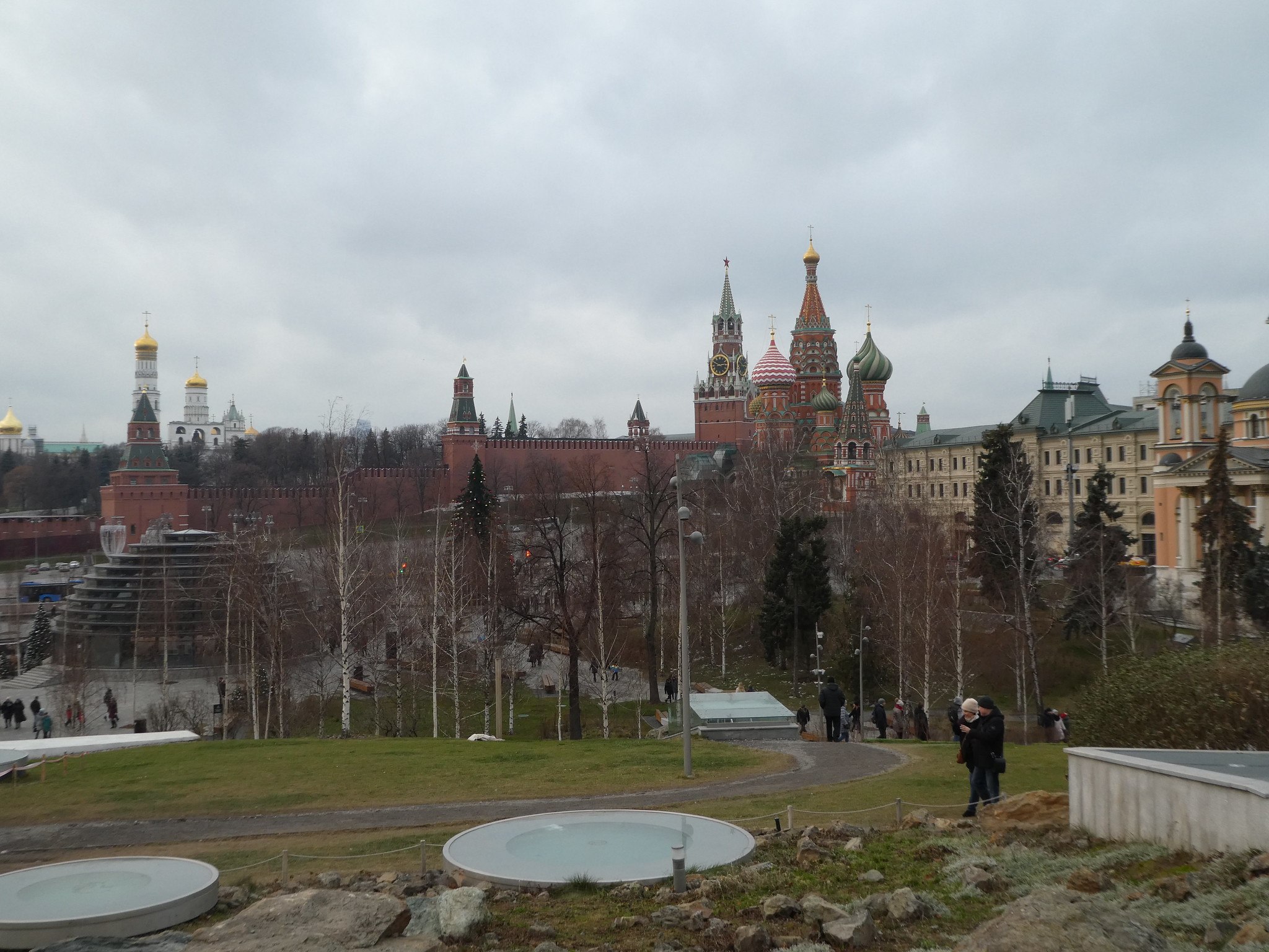 Zaradaye Park, Moscow with Red Square in the Background