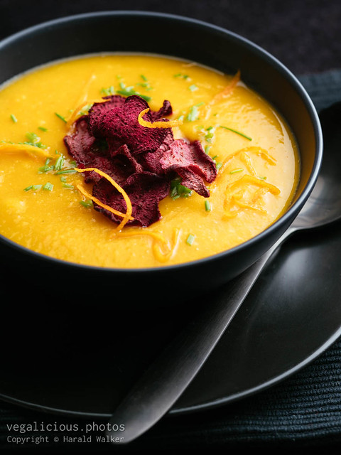 Orange Winter Squash Soup with Ginger