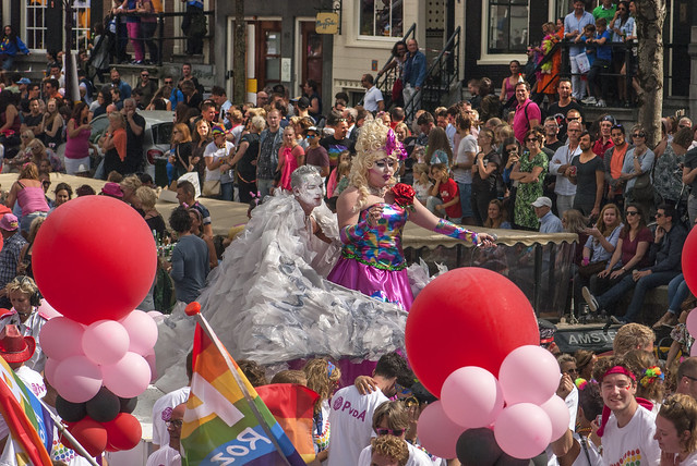 Canal Gay Parade Amsterdam. August 5, 2017. No.DSC_0401a.