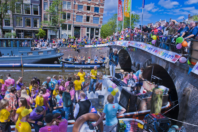 Canal Gay Parade Amsterdam. August 5, 2017. No.5065.