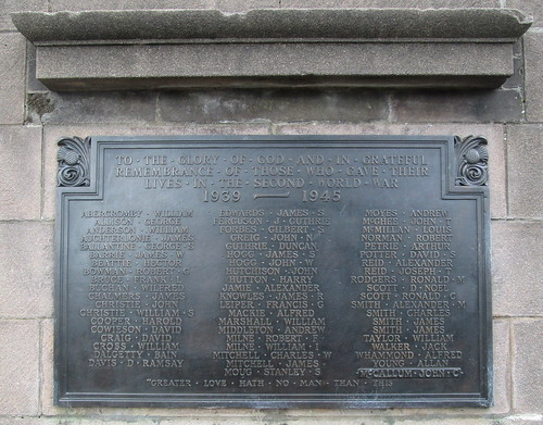 World War 2 Dedication, Brechin War Memorial
