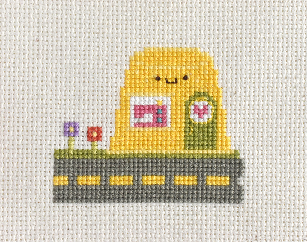 Kawaii Crossing Golden Thimble Cross Stitch