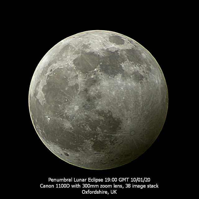 Wolf Moon Penumbral Eclipse from UK 10/01/20