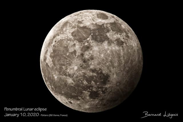 Eclipse pénombrale de Lune   Penumbral Lunar eclipse