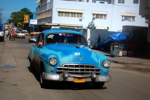 blue bluecar classiccar culture cuba havana travel landscape car