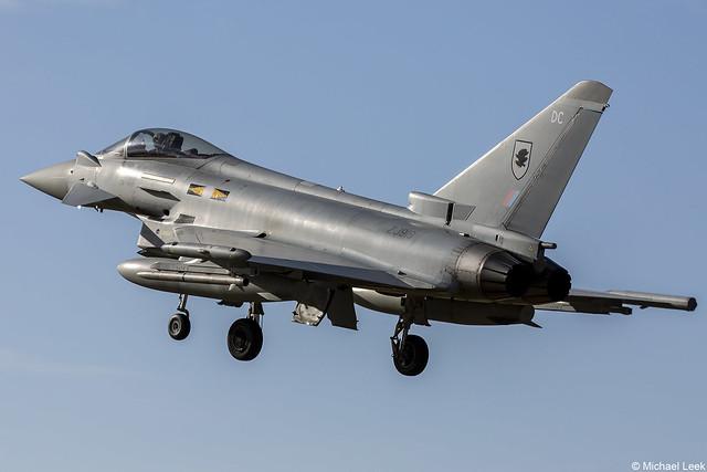 RAF Eurofighter Typhoon FGR4, ZJ919/DC; XI Squadron, RAF Coningsby, Lincolnshire, England