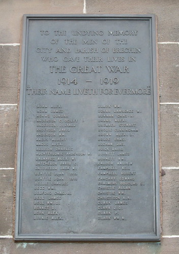 Brechin War Memorial Great War Dedication
