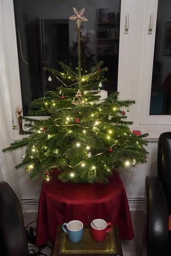 Letzter Kaffee unter unserem Weihnachtsbaum vor dem Abschmücken