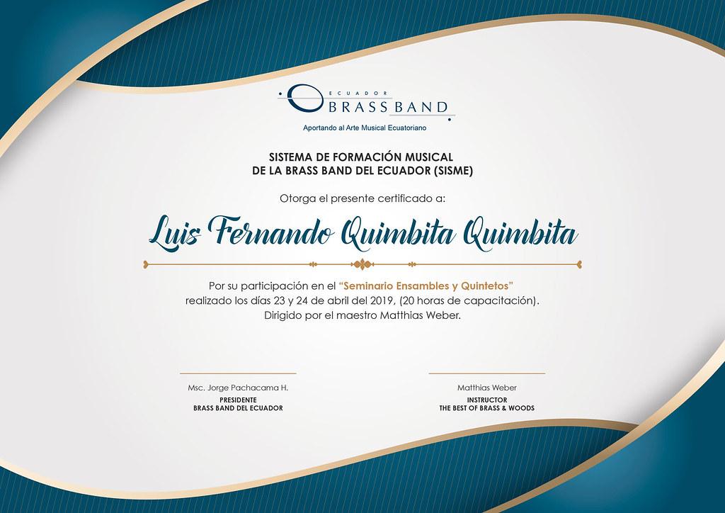 certificados seminario