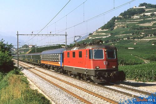 Re 4-4 11176 . SBB . Salgesch.15.07.91.