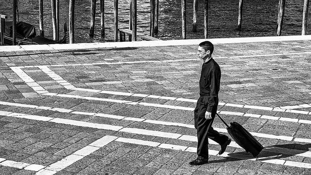 Venise - Jeune séminariste à la Salute.