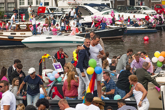 Canal Gay Parade Amsterdam. August 5, 2017. No.DSC_0265.