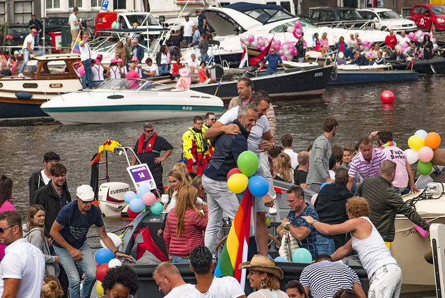 Canal Gay Parade Amsterdam. August 5, 2017. No.DSC_0264.