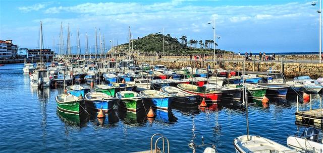 El puerto de Lekeitio.