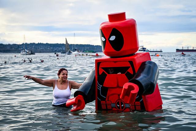 Lego Deadpool and Woman at Polar Bear Dip