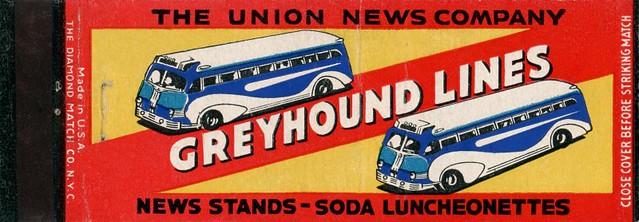 Greyhound Lines Matchbook