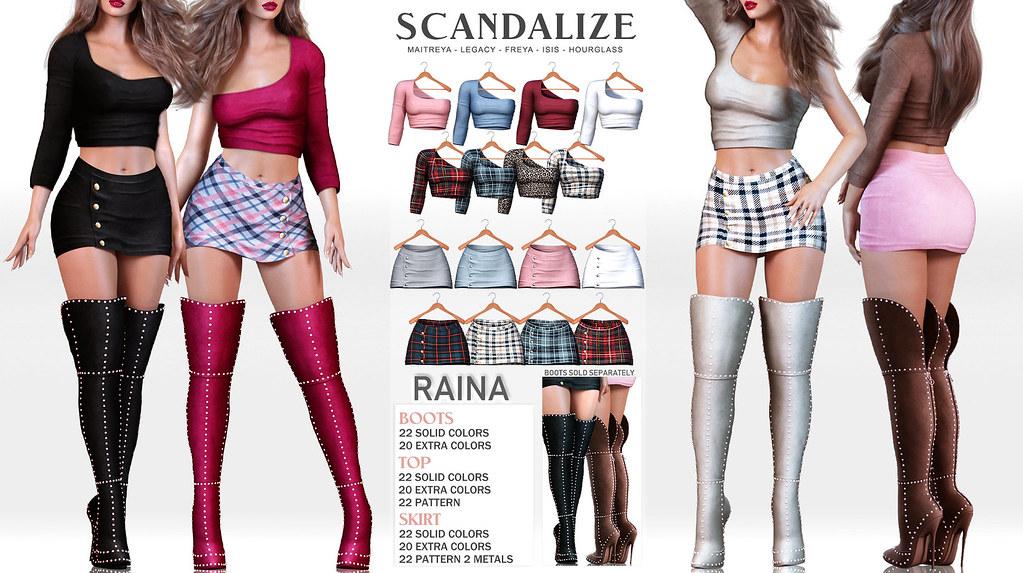 SCANDALIZE.  – RAINA  @ equal10