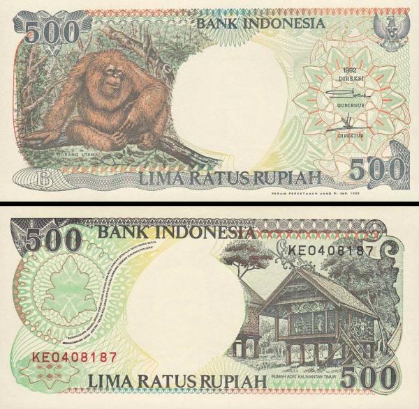 500 Rupií Indonézia 1992/1998, P128g